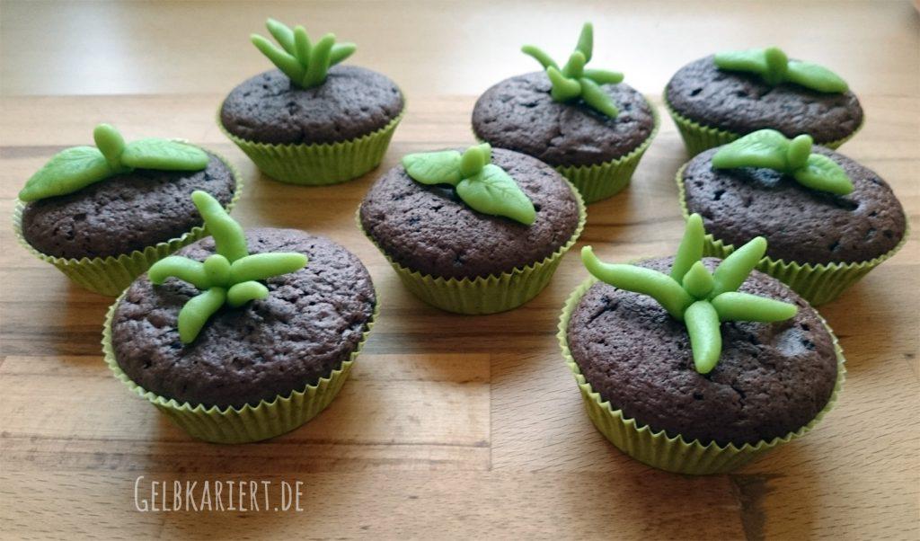 Muffins mit Marzipan