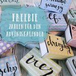 Freebie: Handlettering Adventskalenderzahlen