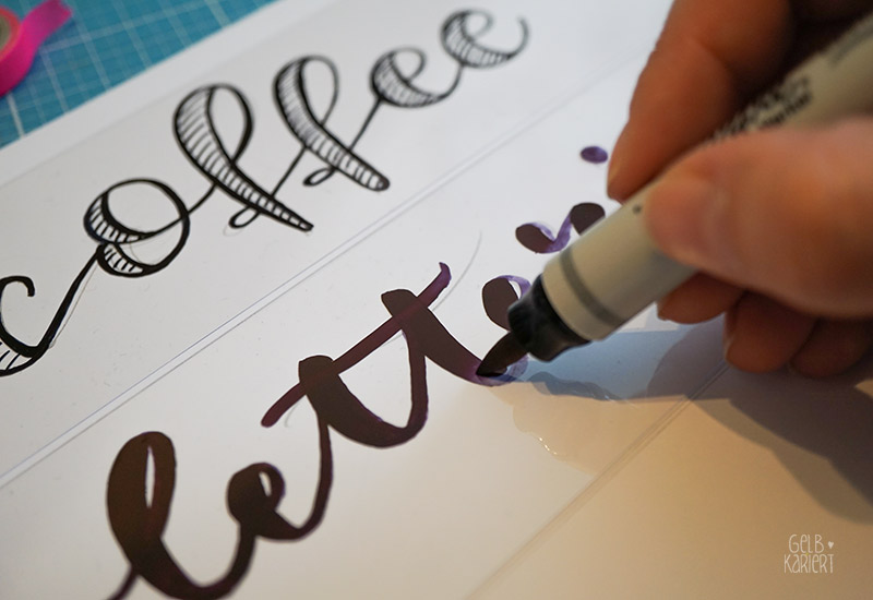 DIY Lettering für die Lightbox, Handlettering, Ideen für Handlettering, DIY Anleitung, Tutorial, DIY Blog, Lightbox individualisieren, Gelbkariert Blog