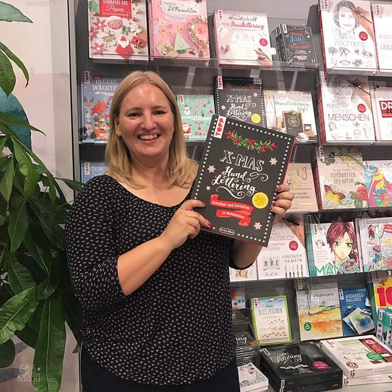 Die XMAS Handlettering Mappe am Stand vom Frechverlag auf der Frankfurter Buchmesse