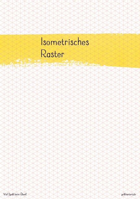 Isometrisches Raster, 3D Lettering, Freebie, Printable, Gelbkariert Blog