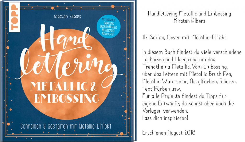 Handlettering Metallic und Embossing, Metallic Lettering, Kirsten Albers
