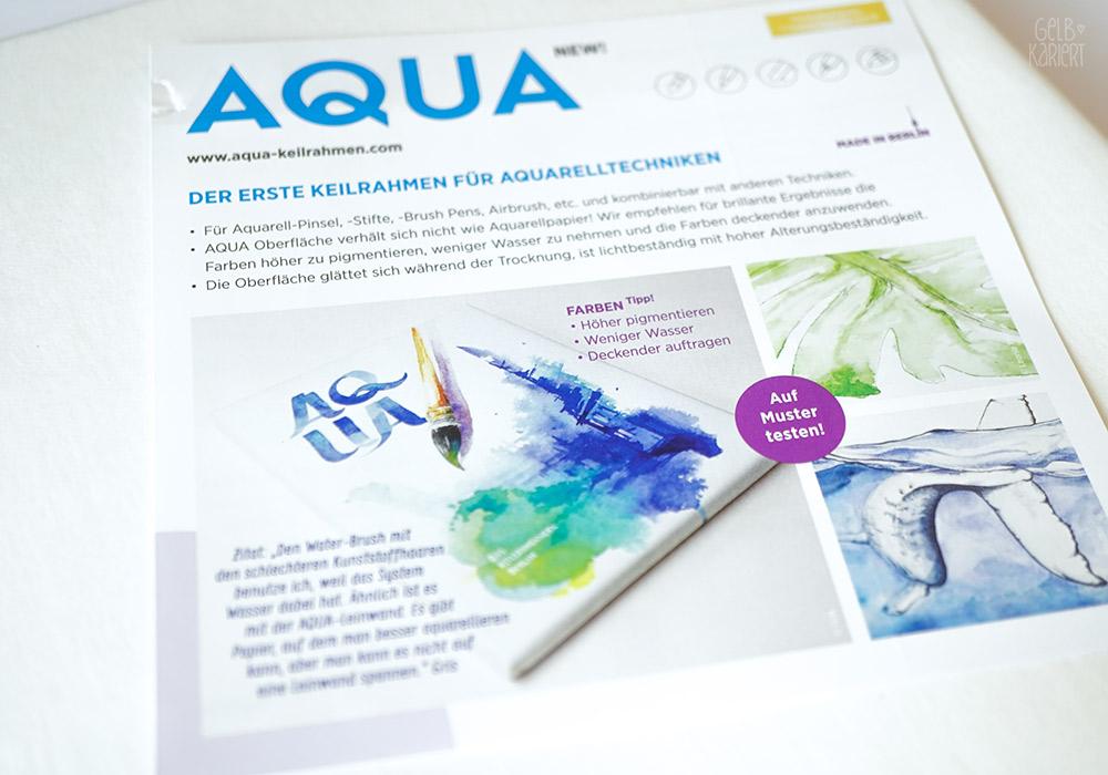 Lettering auf Keilrahmen, MH&P Keilrahmen, Aqua Keilrahmen, Handlettering auf Keilrahmen, Watercolor Lettering, Aquarell Handlettering, Gelbkariert Blog