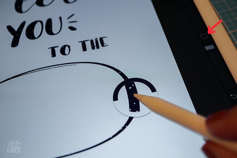 Anleitung Procreate, Lettering mit dem IPad Pro und Procreate, Tutorial für Anfänger, Radieren, Handlettering digital, Freebie, Printable, Star Wars, Sprüche, Gelbkariert Blog
