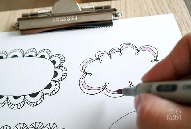 Freebie: Printable Rahmen für Handlettering | Lettering | Ideen | Gelbkariert