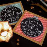 Handlettering Weihnachtskarten basteln