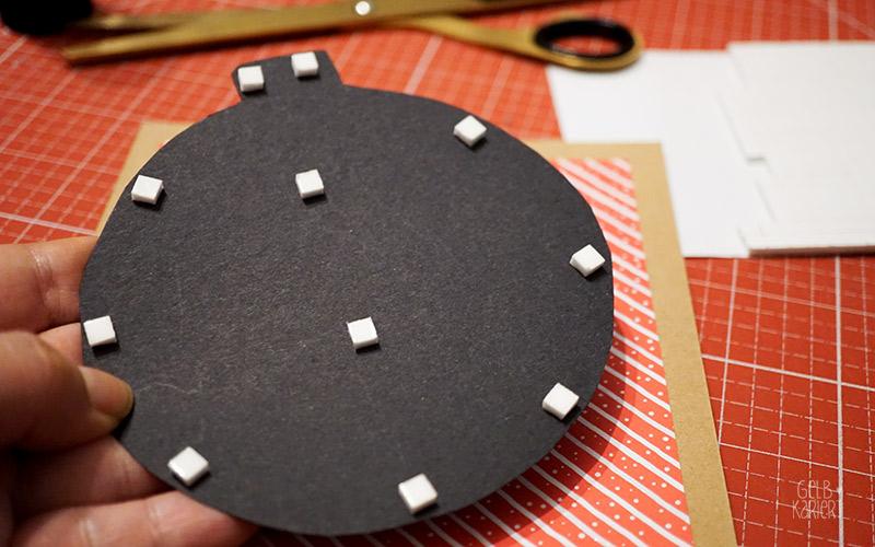 handlettering weihnachtskarten basteln gelbkariert. Black Bedroom Furniture Sets. Home Design Ideas