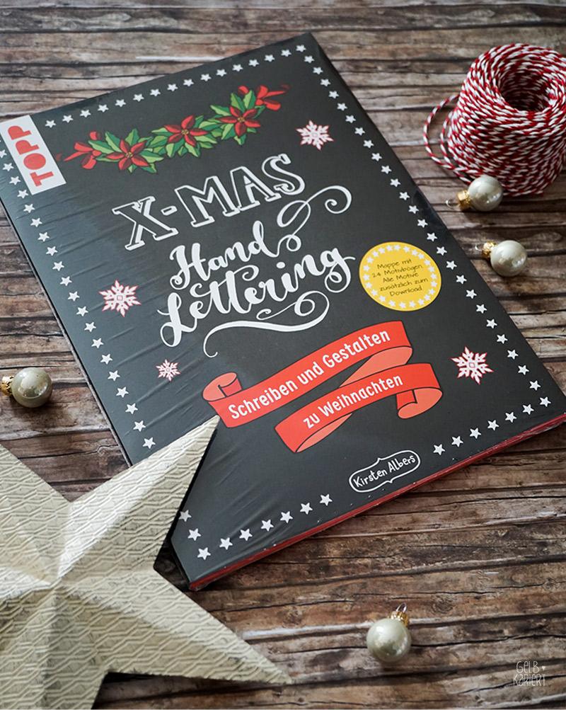Verlosung 2017, Weihnachtsverlosung ,XMAS-Handlettering Mappe vom Frechverlag, Gelbkariert Blog