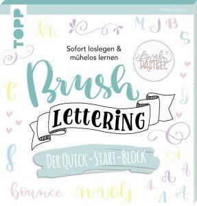 Brushlettering. Der Quick-Start-Block. Lettering lernen. Brushlettering üben für Anfänger. Frechverlag, Gelbkariert