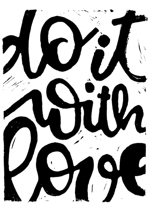 Do it with love - Linol Handlettering