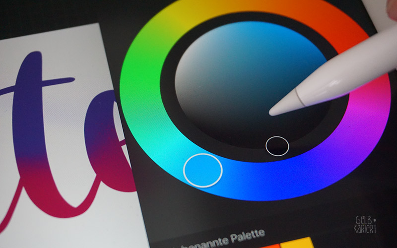 Lettering mit dem IPad Pro, Procreate App, Handlettering, Tutorial IPad, Anleitung für Handlettering, Gelbkariert