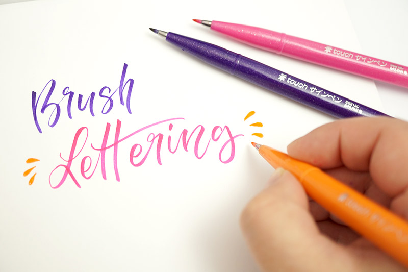 Brush Lettering Workshop mit Pentel Touch Brush Pen